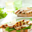 Grilled Chicken Sandwich with Herbed Yogurt Spread